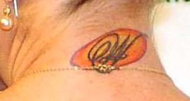 Anastacia tatuaggio AWN